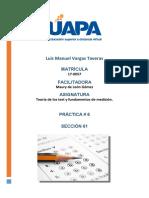 Tarea VI Teoria de los test Luis Manuel Vargas 170057