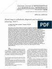 """""""Facial keys to orthodontic diagnosis and treatment planning Parts I"""