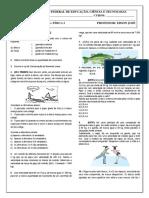 Lista de exercicios 3 - Fisica I