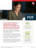A Dell Latitude 7420 Business Laptop with an Intel Core i7-1185G7 vPro processor received better marks for performance and battery life