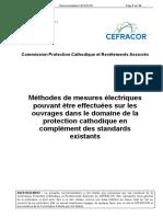 Méthodes de Mesures Électriques Protection Cathodique
