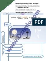 TP RDM - Etude de la Torsion d'une Poutre Cantilever  _ TP1 + Compte Rendu _ - Résistance des Matériaux 6417