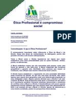 ÉTICA PROFISSIONAL É COMPROMISSO SOCIAL