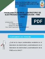 DIAPOSITIVA DE LAS PROBLEMATICAS DEL LABORATORIO ELECTRICIDAD
