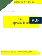 Acustica Applicata 1 - Cap. 4 - La Percezione Del Suono