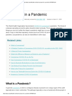 What to Do in a Pandemic