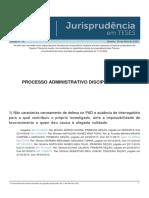 Jurisprudencia em Teses 147 - Processo Administrativo Disciplinar - VI