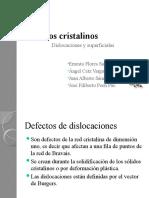 Defectos cristalinos superficiales y  dislocaciones