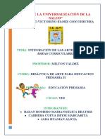 Informe - Integración de Las Artes Con Otras Áreas Curriculares (1)
