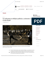 La Jornada - Se enfrentan en Bélgica policías y asistentes a evento ilegal