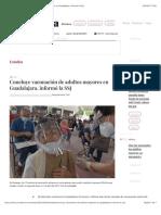 La Jornada - Concluye vacunación de adultos mayores en Guadalajara, informó la SSJ
