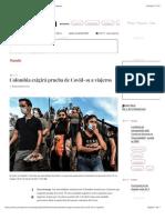 La Jornada - Colombia exigirá prueba de Covid-19 a viajeros