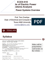Lecture 1 Power Systems Overview
