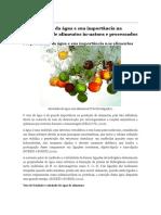 Propriedades da água e sua importância na estabilidade de alimentos in