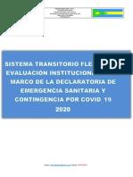 Sistema Institucional de Evaluacion Transitorio