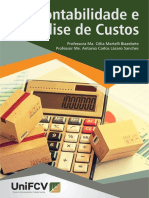 CONTABILIDADE E ANÁLISE DE CUSTOS
