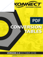 Konnect Fastening Systems - Conversion Tables