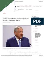La Jornada - Una vez vacunados los adultos mayores, se vacunará a docentes