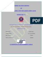 A Project Report on Custmer Satisfaction Regarding HDFC BANK
