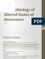 Psychobiology of Altered States of Awareness Revision