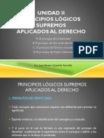 Unidad II Principios Lógicos Jurídicos