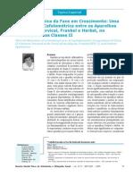 Alteração Clínica da Face em Crescimento Uma Comparação Cefalométrica entre os AEB Cervical Frankel e Herbst Cl II