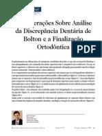 Considerações Sobre  Ánaliase da Discrepância Dentaria de Bolton e a Finalização Ortodôntica