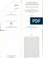 Mohler, Kardinal Bessarion Als Theologe, Humanist, Staatsmann, III (Aus Bessarionis Gelehrtenkreis)