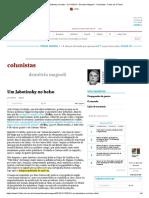 Um Jabotinsky no bolso - 21_11_2015 - Demetrio Magnoli - Colunistas - Folha de S.Paulo