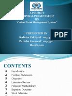 Online Event Management System Defense