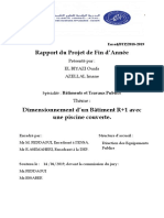 PFA-Dimensionnement d'un Bâtiment R+1 avec une piscine couverte.