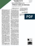 Fondazioni Istituto Superiore di Sanità - Riflessioni di due ricercatori - Il Sole 24 Ore Sanità