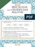 Correção Das Atividades Da Pg_97-99