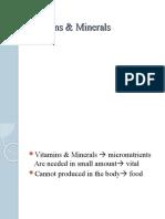 W10 Water, Vitamins  Minerals 2