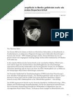 Neue FFP2-Maskenpflicht in Berlin gefährdet mehr als sie hilft Vernichtendes Experten-Urteil
