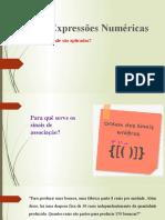 Expressoes Numéricas