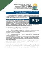 Edital n°18.2021 - Seleção Estágio Não Obrigatório - PROEX - UFT
