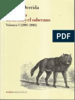 Derrida, J. La Bestia y El Soberano. Vol. I [Jacques Derrida]