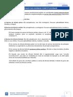 Aplicabilidade Das Normas Constitucionais - Resumo