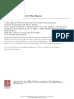 &A Pilot Study of Performance Practices of Twentieth-Century Musicians