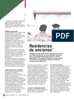 (Geriatria) - Residencias de Ancianos - Revista Dinero Y Derechos 74
