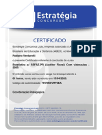 Certificado de Estatística