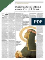 130339574 La Importancia de La Iglesia en La Formacion Del Peru