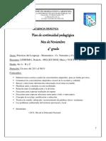 Sec. Didáctica 4°A, B y C - Noviembre