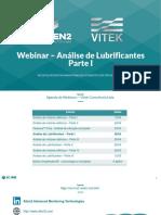 Webinar Parte I - Análise de lubrificantes Atten2 Vitek