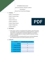 Programa Academico y Consideraciones Generales