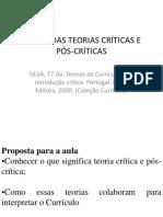 C - slides - Depois das teorias criticas e pós críticas -Thomaz Tadeu da Silva-