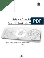 Lista de Exercicios Transferencia de Massas