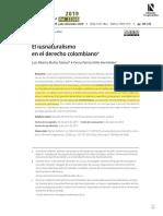 El derecho natural en la legislación colombiana.