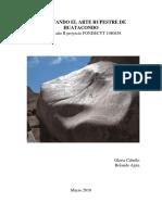 Cabello y Ajata 2010 - Informe 2do Año Fondecyt 1080458. Revisitando El Arte Rupestre de Huatacondo